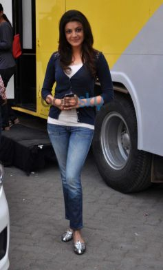 Kajal Agarwal snapped at Mehboob studio bandra