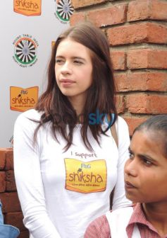 Kalki Koechlin laying the foundation to help P&G Shiksha School