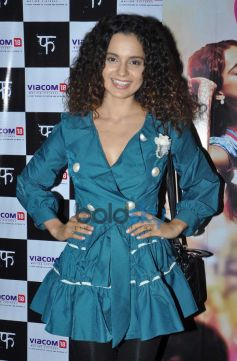 Kangana Ranaut during Queen special screening at ligthbox