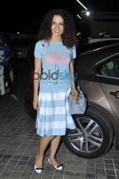 Kangna Ranaut during Queen special screening at pvr juhu