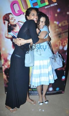 Lisa,Kangna during Queen special screening at pvr juhu