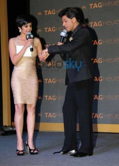 Mandira Bedi with SRK  at new Tag Heuer's watches unveil event