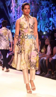 Model on ramp at Lakme Fashion Week Summer Resort 2014