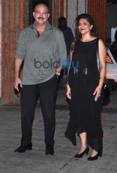 Rakesh Roshan with wife at Kangna Ranaut Birthday Bash