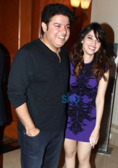 Sajid and Tamanna during Vasu Bhagnani Pooja films Party