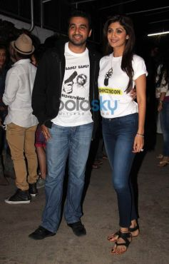 Shilpa Shetty and Raj Kundra at special screening of Dishkiyaoon