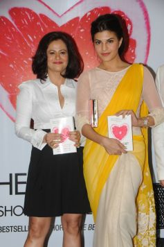 Shonali Sabherwal and Jacqueline Fernandez during the launch of book The Love Diet