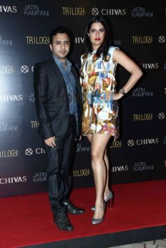 Sona Mohpatra with husband Ram Sampat at Chivas bash