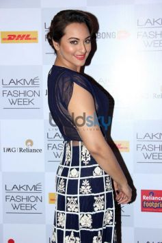 Sonakshi Sinha during Lakme Fashion Week Summer Resort 2014