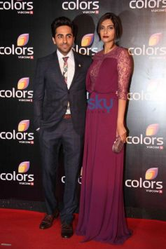 Sonam Kapoor and Ayushman Khurana at star studded colors party