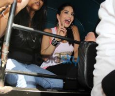 Sunny Leone during Ragini MMS 2 promotion