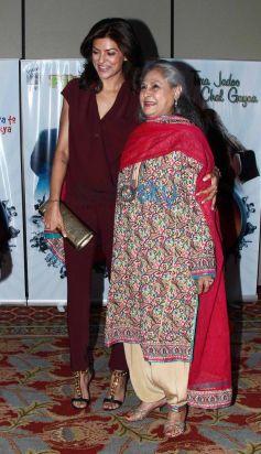 Sushmita Sen and Jaya Bachchan during Vasu Bhagnani Pooja films Party