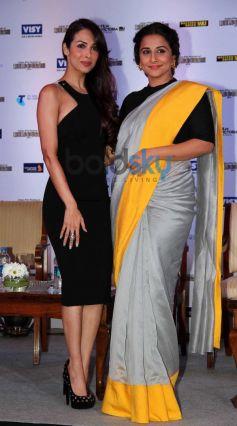 Vidya Balan and Malaika Arora during press conference