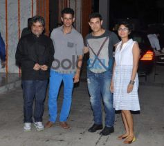 Vishal, Sharman, Aamir and Kiran at Kangna Ranaut Birthday Bash