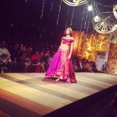 Shilpa Shetty walks during Wills India Fashion Show 2014