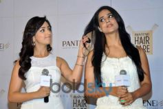 Yami Gautam, Mahi Gill during launch of new Pantene