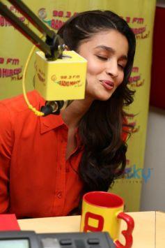 Alia Bhatt at Radio Mirchi