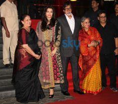 Amitabh Bachchan, Aishwariya, Jaya Bachchan at Kochadaiyaan event