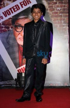 Parth Bhalerao during Bhootnath Returns Success party