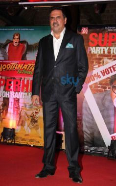 Boman Irani during Bhootnath Returns Success party