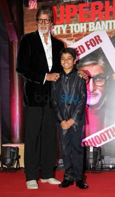 Amitabh Bachchan during Bhootnath Returns Success party