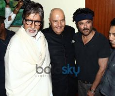Amitabh Bachchan, Prem Chopra and Anil Kapoor at Prem Chopra Biography Launch