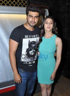 Arjun Kapoor and Alia Bhatt at pvr juhu