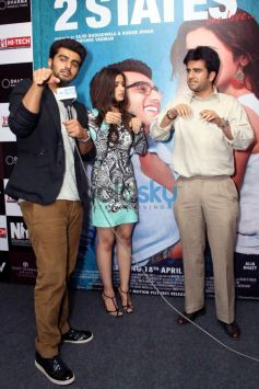 Arjun Kapoor and Alia Bhatt stuns during 2 States promotion