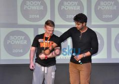 Arjun Kapoor during fitness exhibition