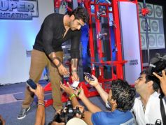 Arjun Kapoor during fitness exhibition