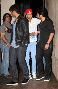 Arjun Kapoor and Ranbir Kapoor at Youngistaan screening