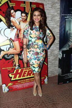 Huma Qureshi at Mai Tera Hero and Ragini MMS 2 success party