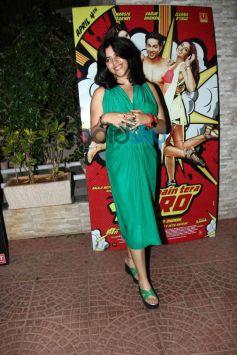 Ekta Kapoor at Mai Tera Hero and Ragini MMS 2 success party