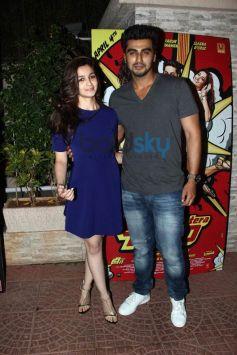 Alia and Arjun at Mai Tera Hero and Ragini MMS 2 success party
