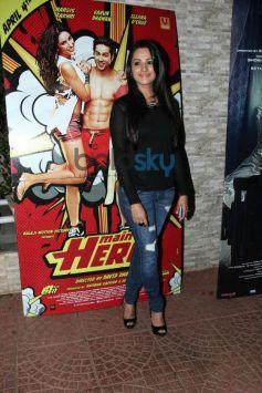 Anita Hasannadani at Mai Tera Hero and Ragini MMS 2 success party