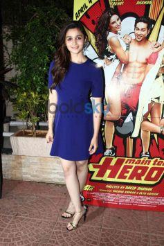 Alia Bhatt at Mai Tera Hero and Ragini MMS 2 success party