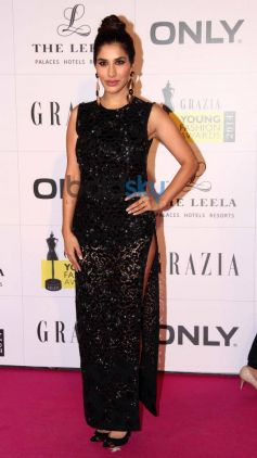 Sophie Choudry stuns at Grazia Young Fashion Awards 2014