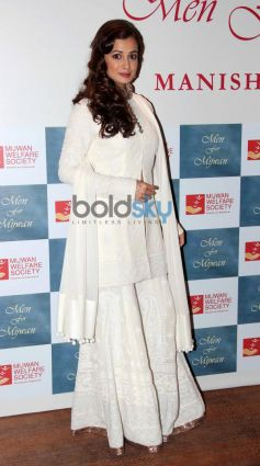 Dia Mirza stuns at Men For Mijwan charity fashion