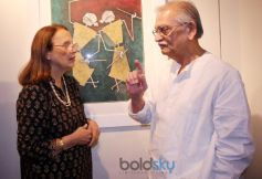 Gulzar at Ashok Bhowmic Painting Exhibition