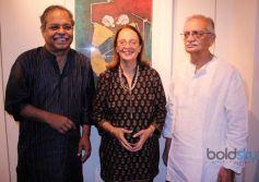 Gulzar at Ashok Bhowmic Painting Exhibition