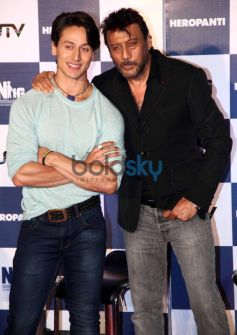Jackie and Tiger Shroff at trailor launch of Heropanthi