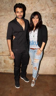 Jackky Bhagnani and Neha Sharma at Youngistaan screening