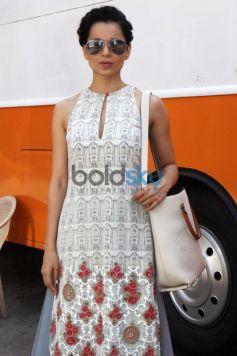 Kangana Ranaut at mehboob studio for film promotion