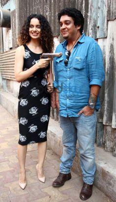 Kangana Ranaut promotes Revolver Raani at filmaalya studio