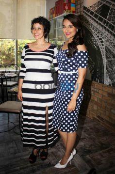 Manisha Koirala with Sonakshi Sinhna at Prevention at novotel magazine launch