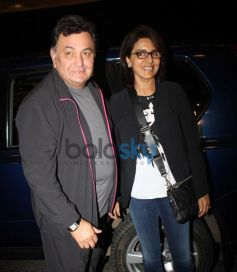 Rishi Kapoor with Neetu Singh Leave for IIFA 2014