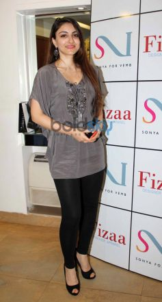 Soha Ali Khan at Sonya Vazifdar new collection launch