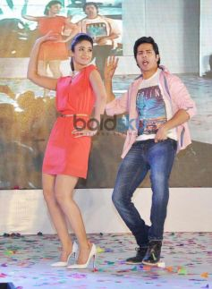 Varun Dhawan and Ileana DCruz during Main Tera Hero Promotion