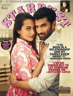 Aditya Kapur and Sonakshi Sinha on the cover of Stardust May 2014