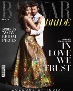 Alia Bhatt and Arjun Kapoor on Harpers Bazaar Bride April 2014 Magazine